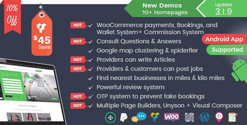 ThemeForest - Listingo v3.1.9 - Service Providers, Business Finder and Directory Listing Booking WordPress Theme - 20617051