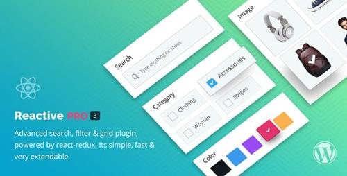 CodeCanyon - Reactive Pro v4.0.6.3 - Advanced WordPress Search Filter Map & Grid - 17425763