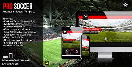 ThemeForest - Pro Soccer v1.0 - Football & Soccer Club Muse Template - 11869436