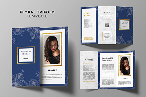 Beauty Fashion Trifold Brochure