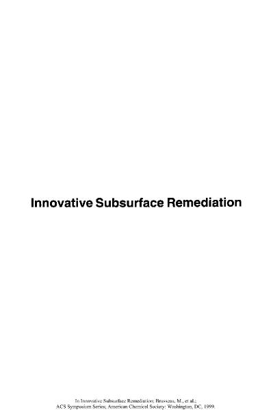 Innovative Subsurface Remediation