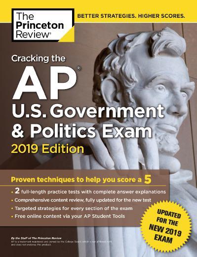 ing the AP U S  Government & Politics Exam, 2019 Edition
