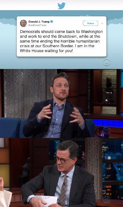 Stephen Colbert 2019 01 14 James McAvoy 720p HDTV x264-SORNY