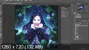 Обработка фотографии Photoshop. Зимний шаблон (2019) WEBRip