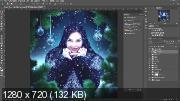 Обработка фотографии Photoshop. Зимний шаблон (2019)