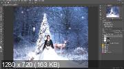 Создаем новогодний фон в Photoshop (2019) WEBRip