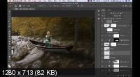 Фотоманипуляция. Девушка в лодке. Тени и мягкий свет (2019/WEBRip)
