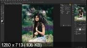 Ретушь фото с кинематографическим эффектом в Photoshop (2019) WEBRip