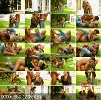 FullyClothedPissing/Tainster - Celine Noiret, Nathaly Cherie - Piss Romp In The Grass (FullHD/1080p/1.21 GB)
