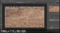 Превращение фото в искусство городской стены в Photoshop (2019) WEBRip