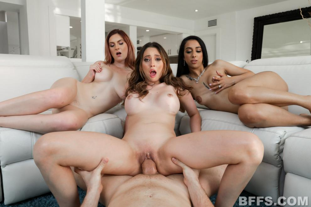 [BFFS.com / TeamSkeet.com] Kara Lee , Kiarra Kai , Quinn Wilde - Briding Dirty (09.04.2019) [All Sex, Blowjob, Foursome, Facial, 360p]
