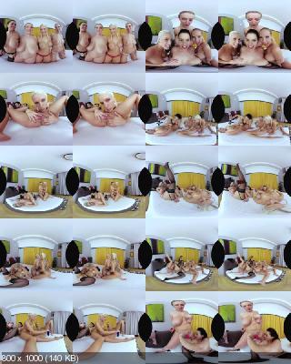 CzechVR: Blanche Bradburry, Chloe Lamour, Crystal Swift, Florane Russell (Heaven is Big Tits - Czech VR 277 / 15.04.2019) [Samsung Gear VR | SideBySide]