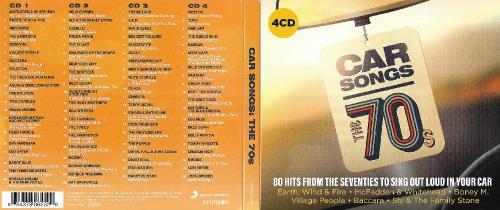 VA - Car Songs The 70s (4CD) (2019)