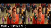 Ральф против интернета 3D / Ralph Breaks the Internet 3D Горизонтальная анаморфная стереопара