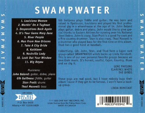 Swampwater - Swampwater (1970; 1995)