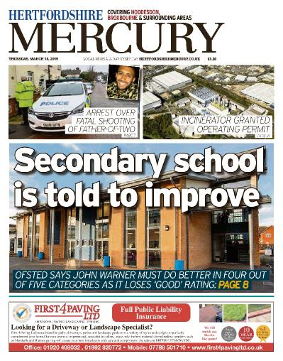 Hertfordshire Mercury Hoddesdon and Broxbourne - March 14, (2019)