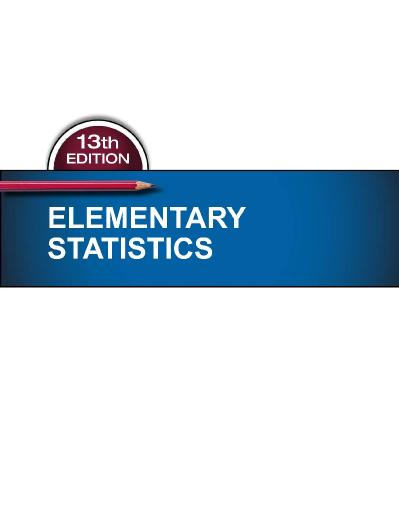 Pearson Elementary Statistics 13th Edition