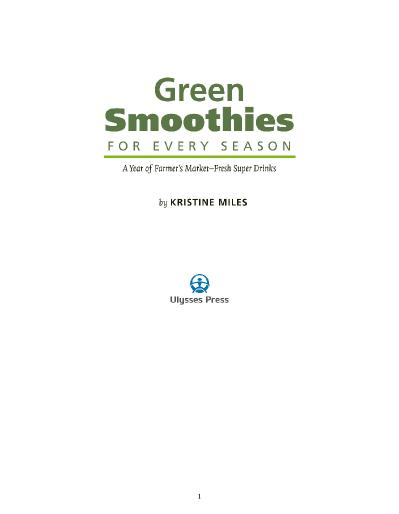 st Green Smoothies for Every Season A Year of Farmers Market-F