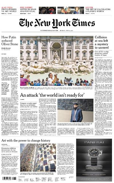 International New York Times 26 June (2017)