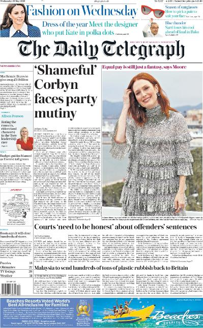 The Daily Telegraph - 29 05 (2019)