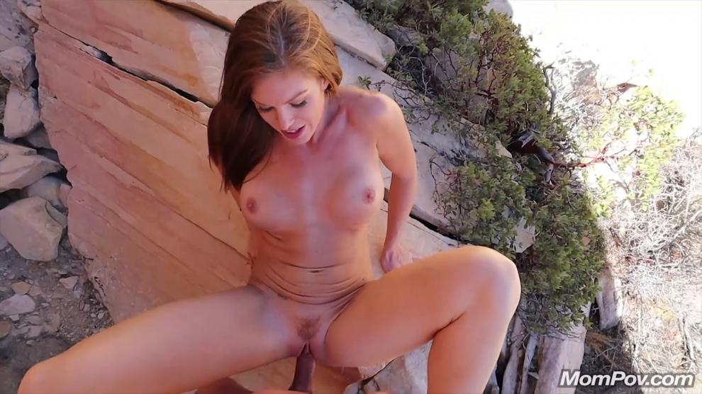[MomPov.com] Ivy - Fit busty MILF on a hike [2019 г., All Sex, Blowjobs, POV, MILF, Creampie, 404p]