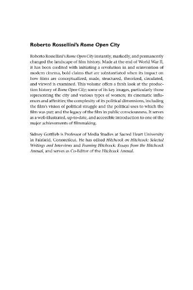 Roberto Rossellini ' s Rome Open City Cambridge Film Handbooks
