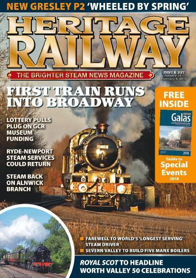 Heritage Railway  January 12  February 8 (2018)
