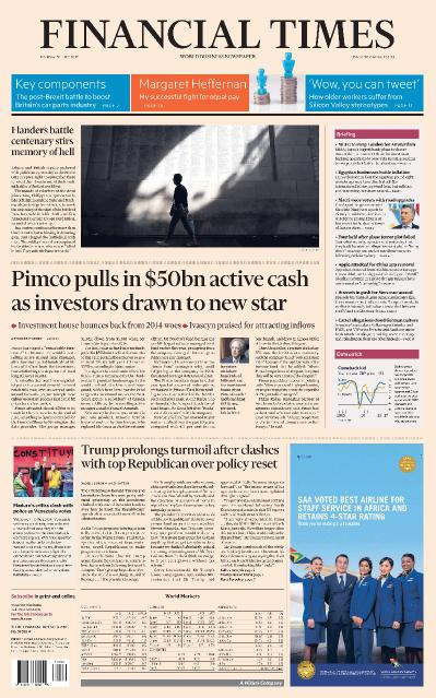Financial Times USA  31 July (2017)
