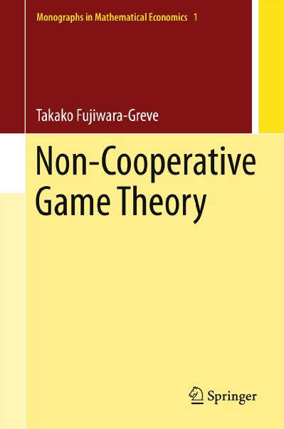 Non Cooperative Game Theory