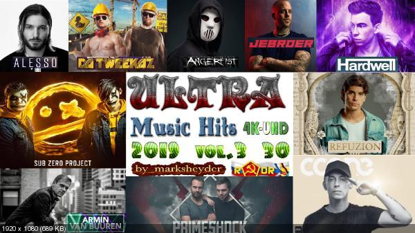 Сборник клипов - ULTRA Music Hits 4K-UHD. Vol. 3. [30 шт.] (2019) WEBRip 2160p скачать торрентом