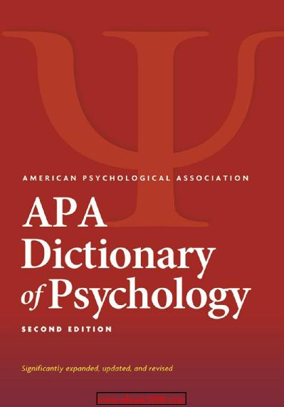 APA Dictionary of Psychology 2nd Edition