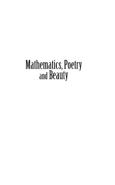 Mathematics, Poetry And Beauty