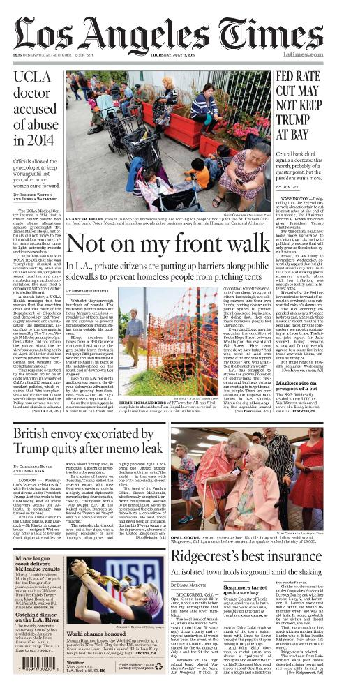 Los Angeles Times - Vol  138 No  220 [11 Jul 2019]