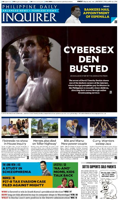 Philippines Daily Inquirer  May 10 (2017)